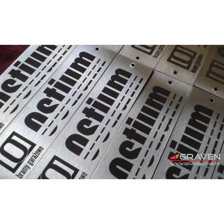 TABLICZKA ZNAMIONOWA INOX (25 x 100 mm)