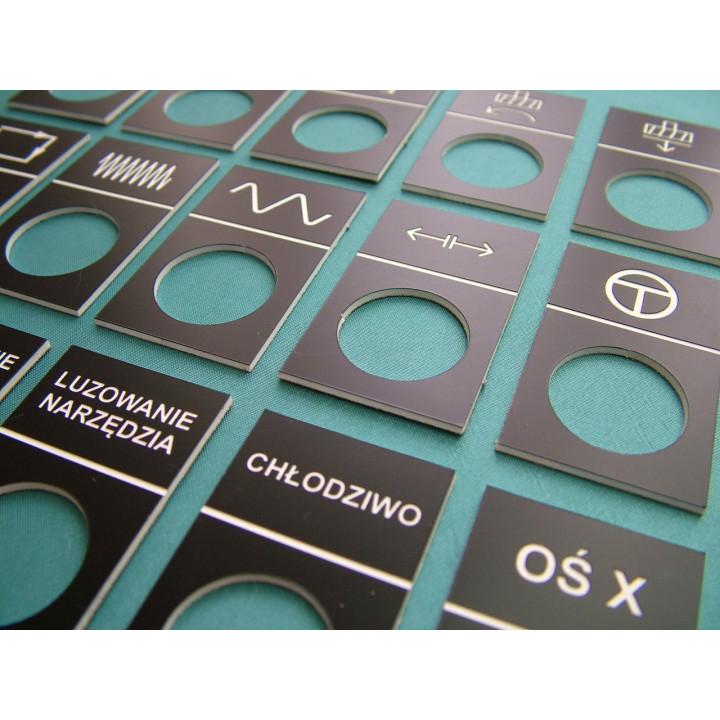 Laminat - Tabliczki znamionowe, panele do maszyn