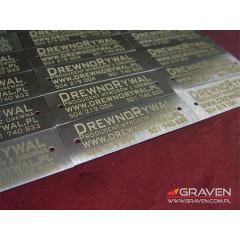 TABLICZKA OPISOWA STAL NIERDZEWNA (20 x 60 mm)