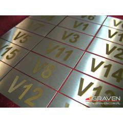 TABLICZKA OPISOWA STAL NIERDZEWNA (30x60 mm)