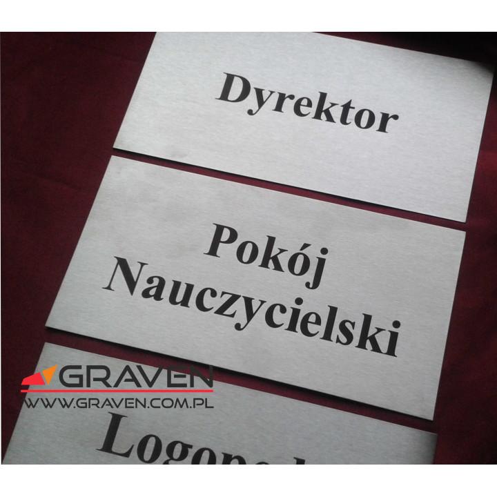 TABLICZKA NA DRZWI INOX (T-034)