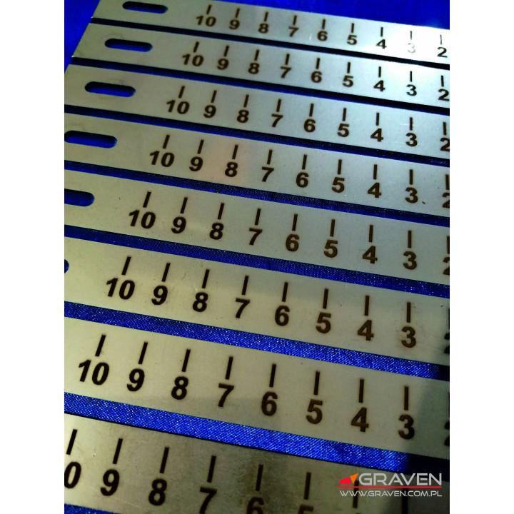 TABLICZKA STAL NIERDZEWNA (15x100 mm)