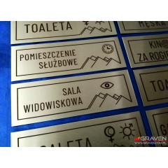 TABLICZKA NA DRZWI INOX (40x120 mm)