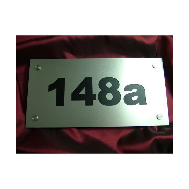Tabliczka metalowa z numerem domu (20 x 40 cm)_ SM02