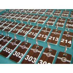BRELOK Z LAMINATU - IMITACJA DREWNA  B-016.1 (30 x 60mm)